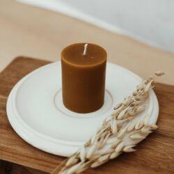 Gyertyatál méhviasz tömbgyertyával - Home Collection - BUKKI Candles ®