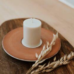 Gyertyatál klasszikus repceviasz tömbgyertyával - Pure Collection - BUKKI Candles ®